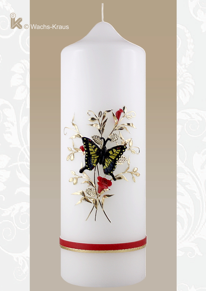 Wählen Sie aus unserer großen Auswahl an Kerzen zum Geburtstag und für Jubiläen, so wie diese Geburtstagskerze Schmetterling