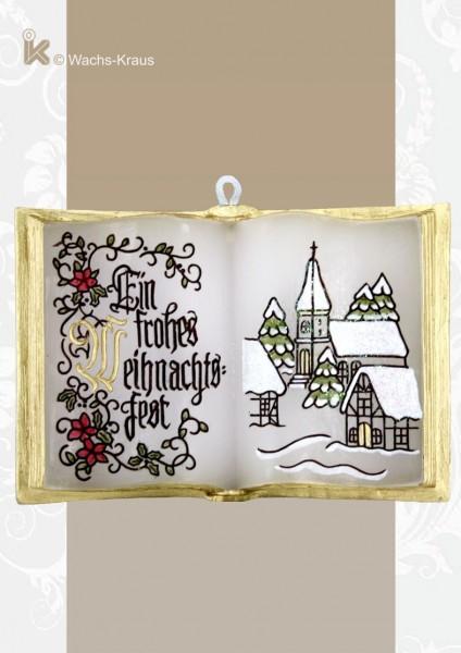 Wachsbuch Frohe Weihnachten, ein nettes kleines Geschenk.