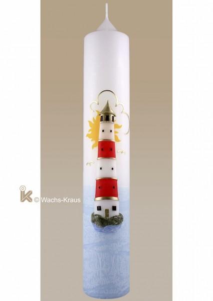 Taufkerze Leuchtturm weist dem Taufkind immer den richtigen Weg