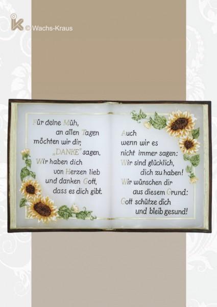 Buch aus Wachs Sonnenblume