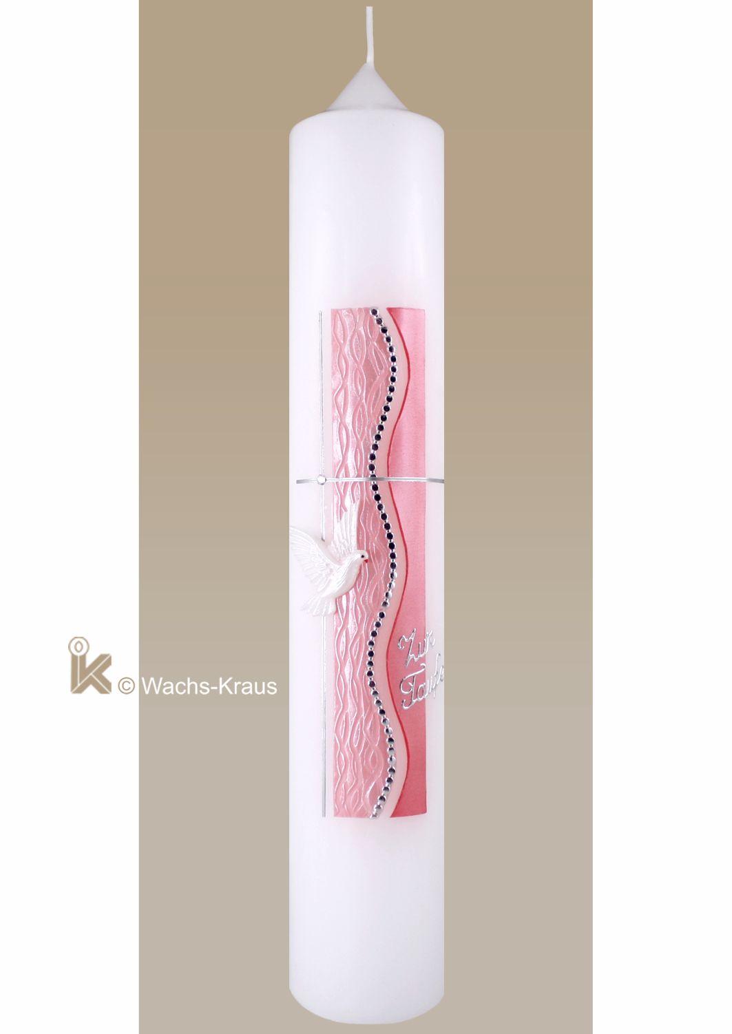 Taufkerzen für Mädchen Elegantes Designe und Handwerkskunst