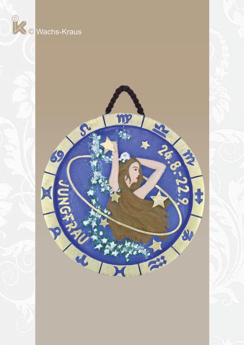 Sternzeichen Jungfrau, Relief zum aufhängen, reine Handarbeit