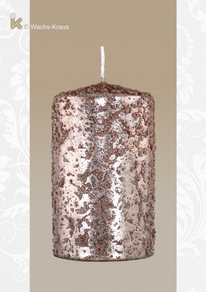 Kerze für Adventkranz, kupfer