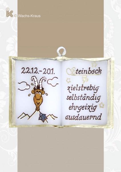 Sternzeichen Wachsbuch Steinbock zum aufhängen, sammeln, schenken