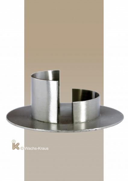 Kerzenständer Messing silber für Kerzen mit Ø 50 mm