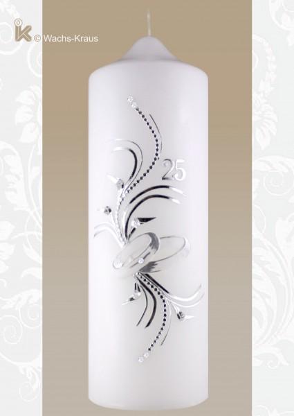 Kerze zur Silberhochzeit elegant