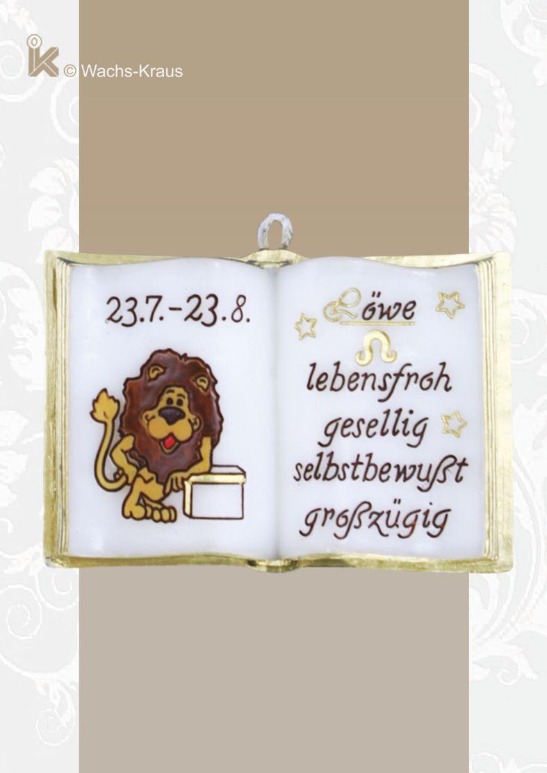 Kleines Wachsbuch, Sternzeichen Löwe zum aufhängen