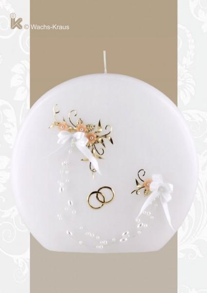 Vintage Hochzeitskerze in Scheiben-Form, Moderne trifft Klassik