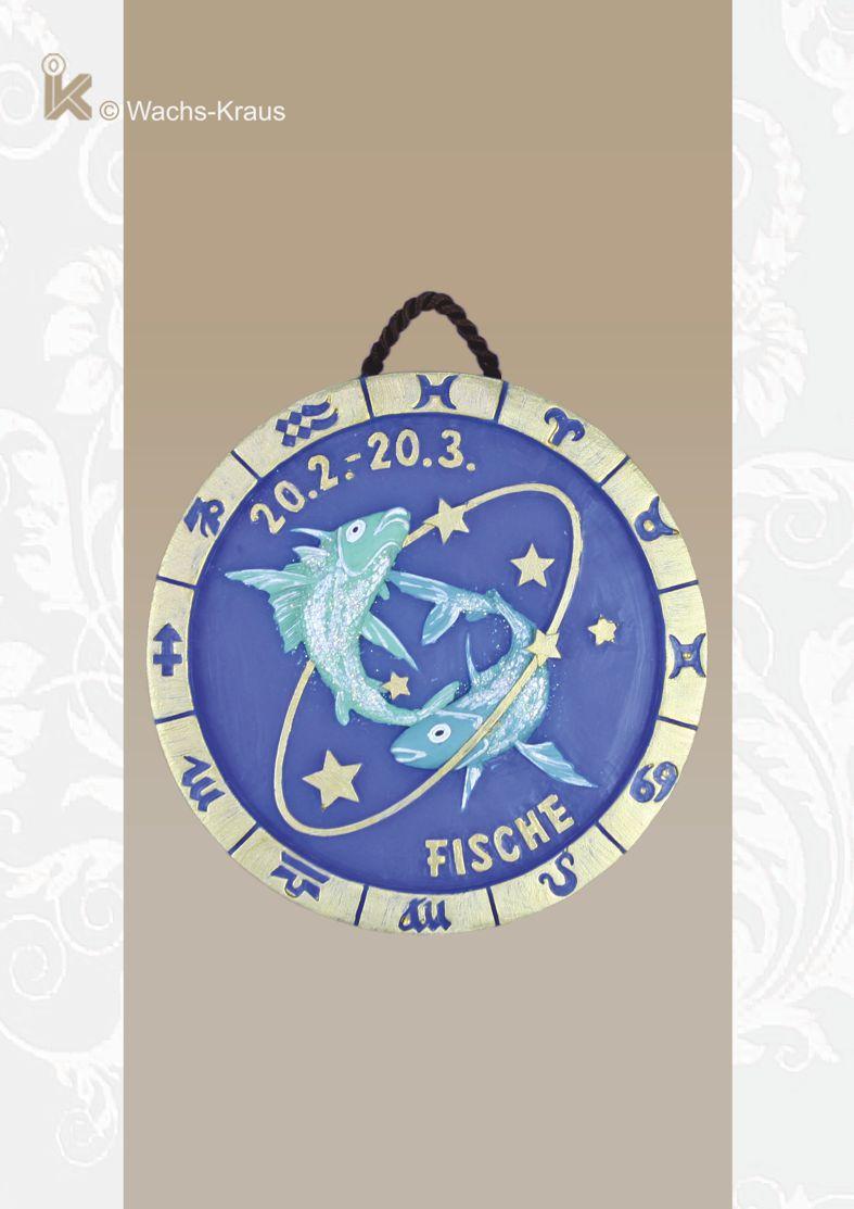 Sternzeichen Relief zum aufhängen: Fische 20.02. - 20.03.