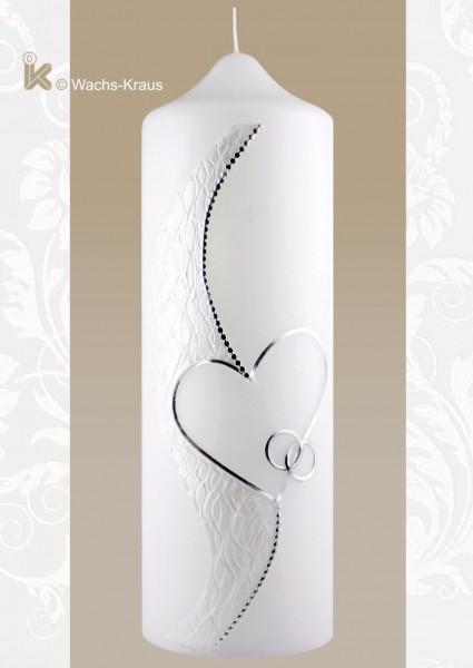 Diese Hochzeitskerze ist ein Traum: Silhouette silber