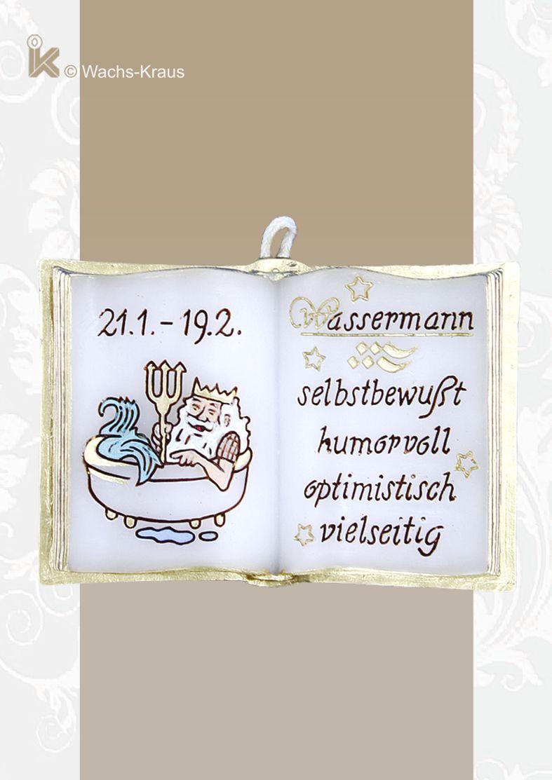 Wachsbuch Wassermann, Sternzeichen zum aufhängen und sammeln