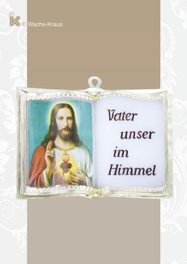 Wachsbuch Vater unser im Himmel mit Herz-Jesu- Bild