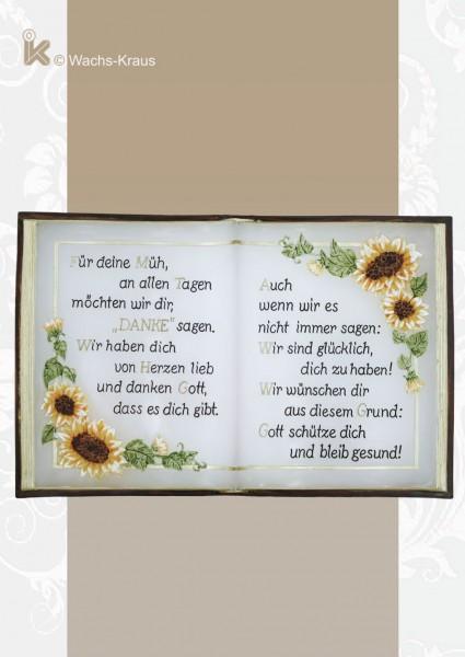 Wachsbuch Sonnenblume  Größe ca. 210/140 mm