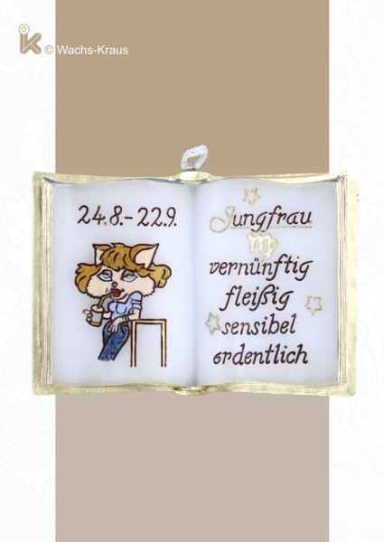 Sternzeichen Jungfrau, kleines Wachsbuch