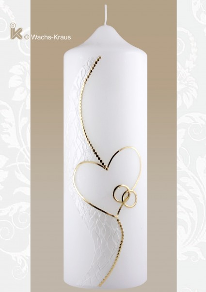 Hochzeitskerze modern Silhouette gold