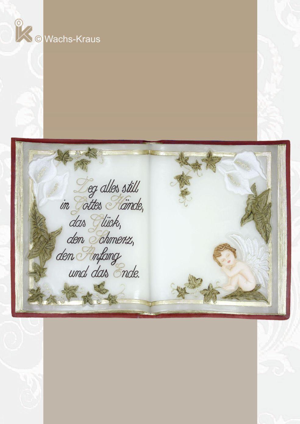 Wachsbuch Engel, Leg alles still in Gottes Hände