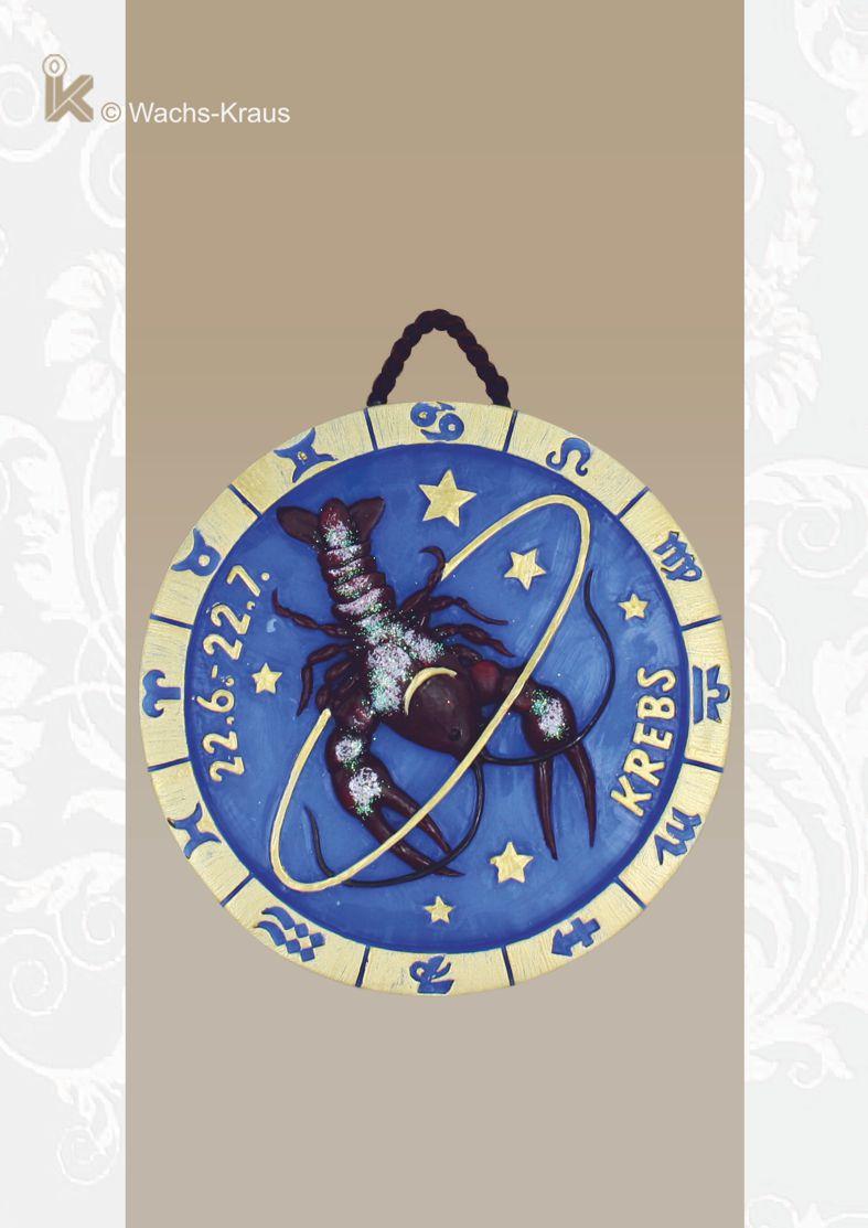 Sternzeichen Löwe, Relief aus Wachs zum aufhängen