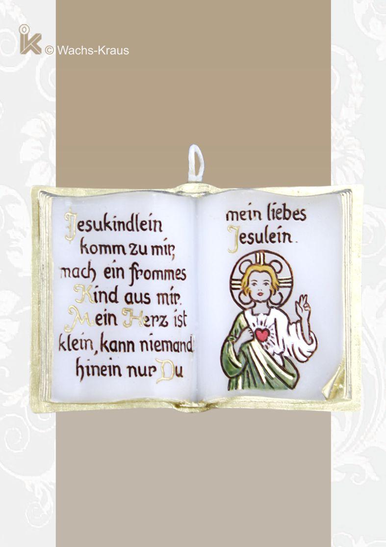 Tolles Geschenk zur Geburt, Taufe, Kommunion: Wachsbuch Jesukindlein