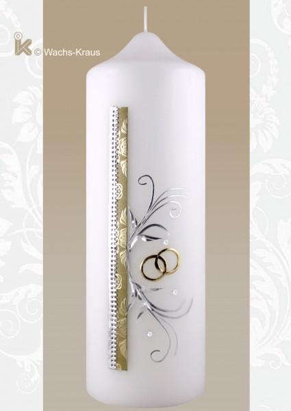 Hochzeitskerze modern bicolor