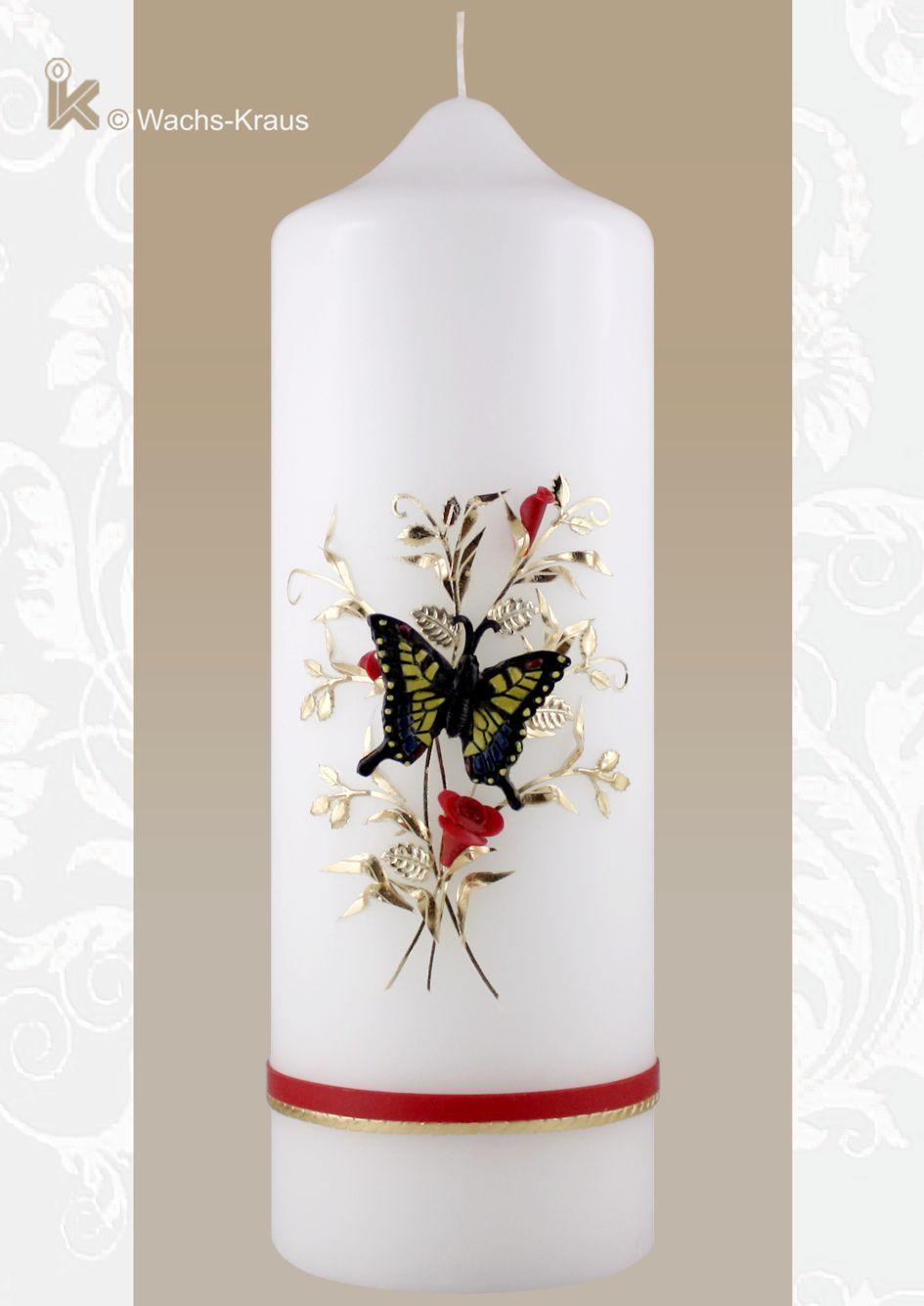 Einzigartig: Geburtstagskerze mit einem Schmetterling