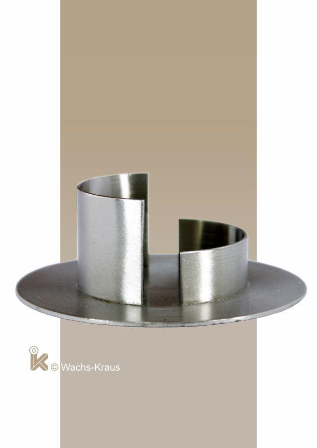 Kerzenständer Messing silber für Kerzen mit 50 mm Durchmesser