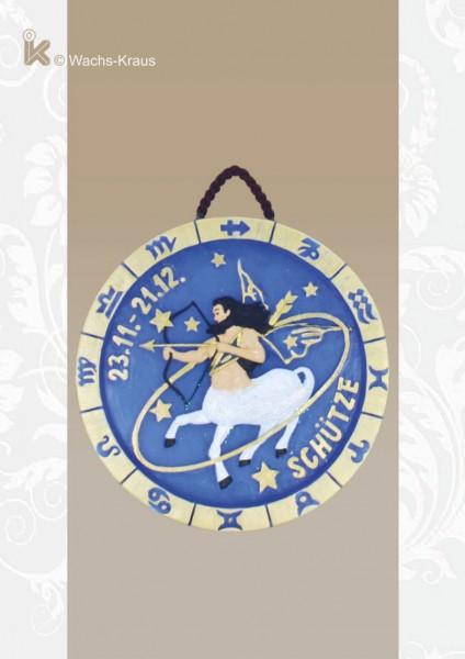 Sternzeichen Schütze. Relief aus Wachs zum aufhängen.