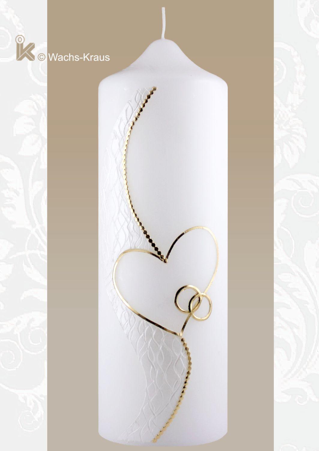 Traum-Hochzeitskerze Silhouette gold