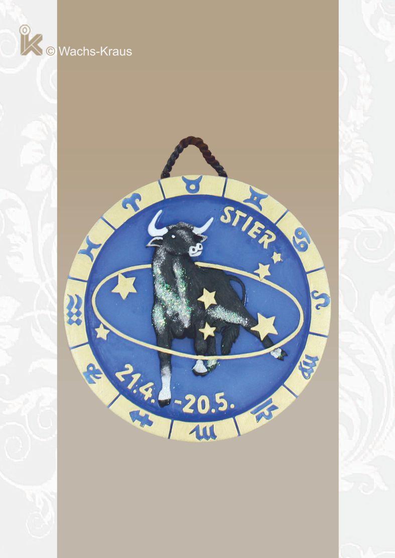 Sternzeichen Relief Stier zum aufhängen, reine Handarbeit