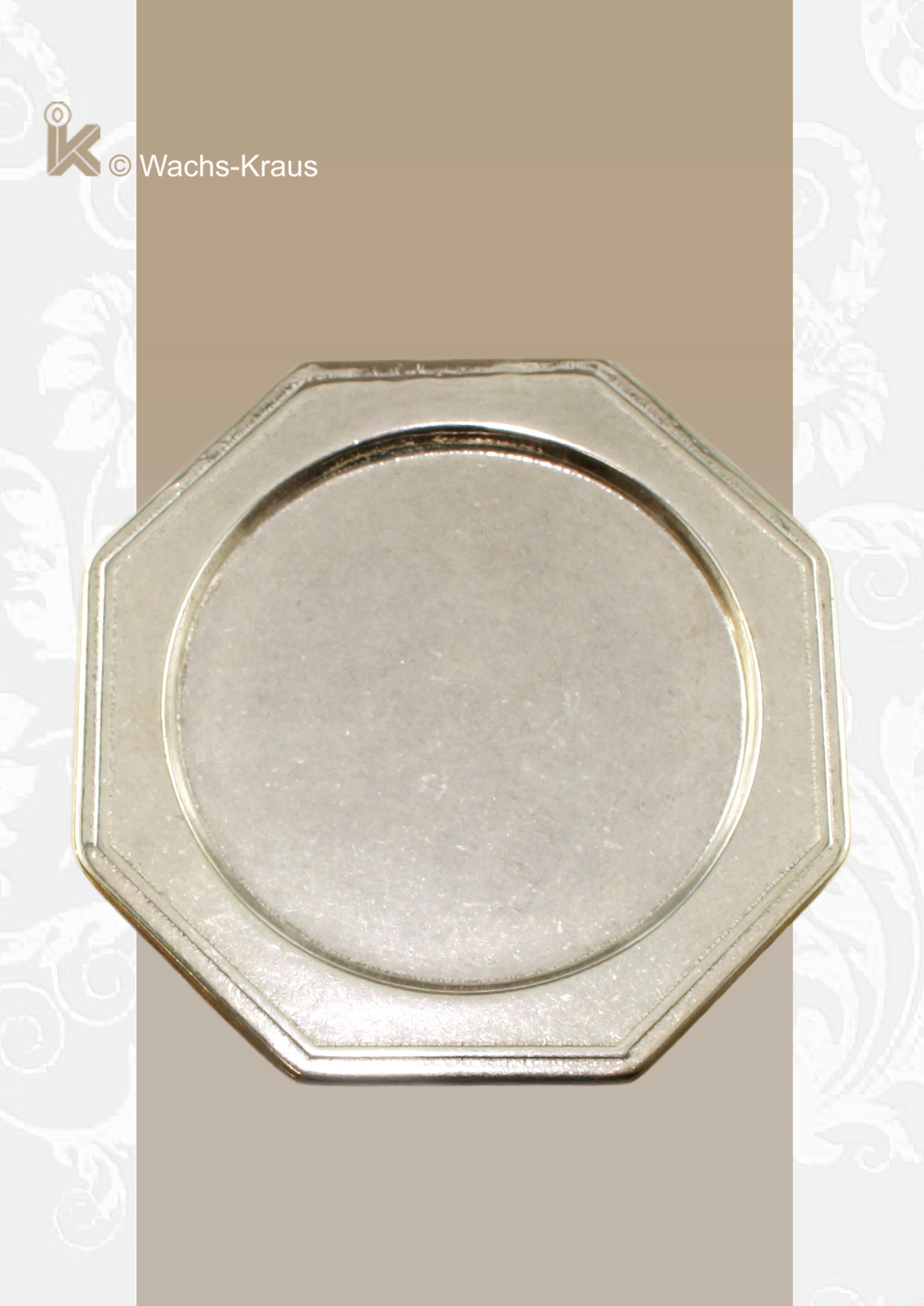 Untersetzer für Kerzen mit Ø 50 mm, Messing