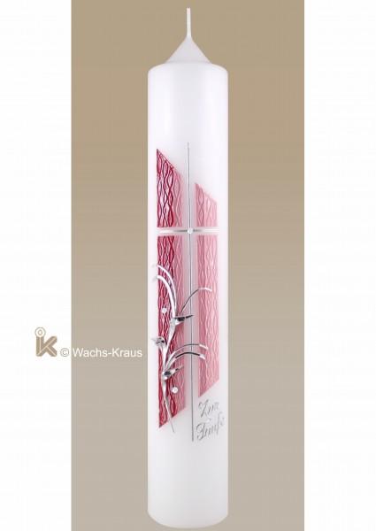 Taufkerze Mädchen rosa modern