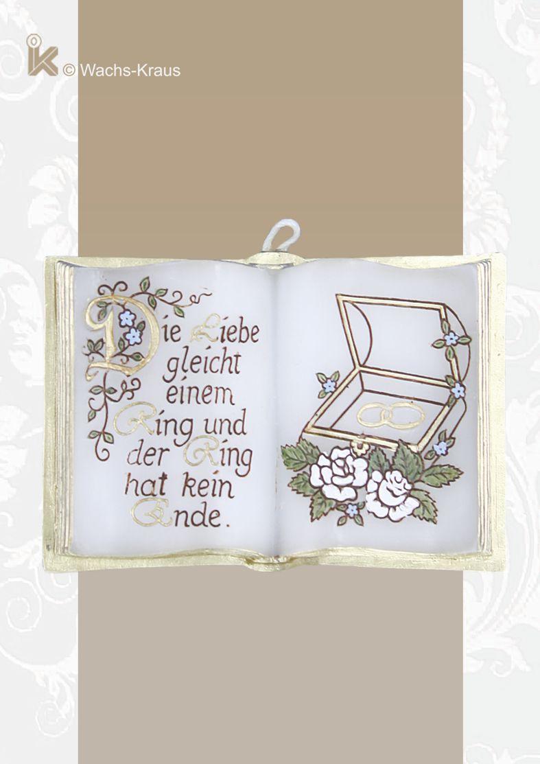 Kleines Präsent zur Hochzeit: Wachsbuch mit Ringen