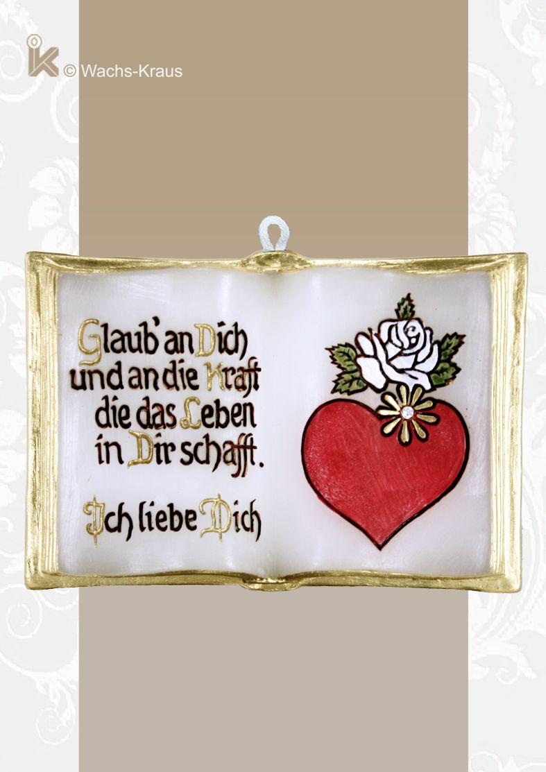 Für Verliebte: Wachsbuch: Ich liebe Dich
