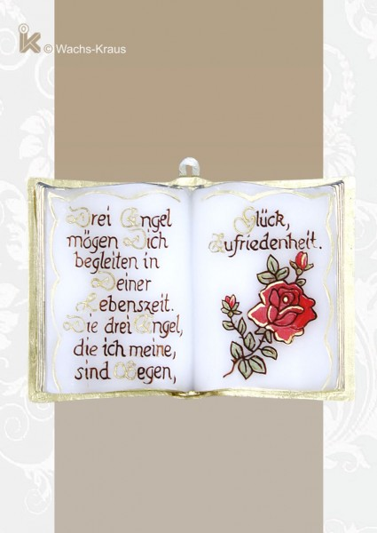 Für liebe Muttis und Omas...Wachsbuch Rose. Drei Engel