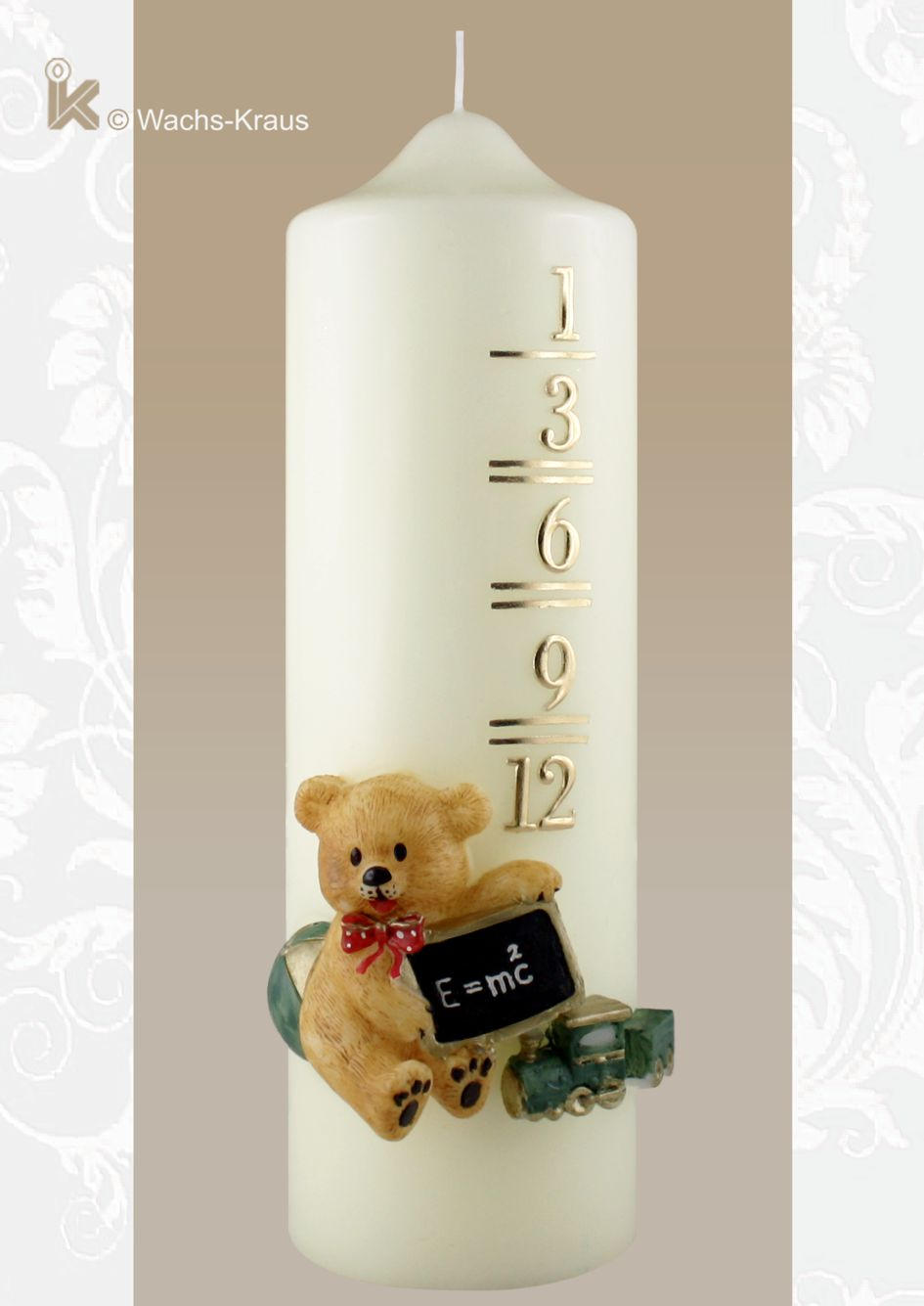 Wunderbar kindgerechtes Design. Kerze zum Geburtstag 1 - 12