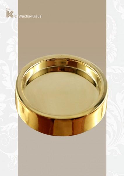 Kerzenhalter für Kerzen mit Ø 80 mm, Messing gold