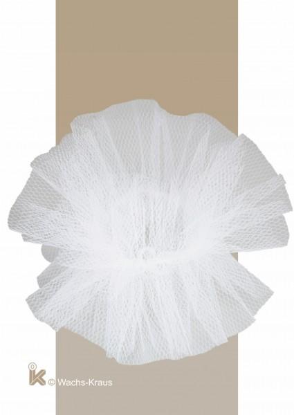 Tropfschutz aus weißem Tüll ohne Saum
