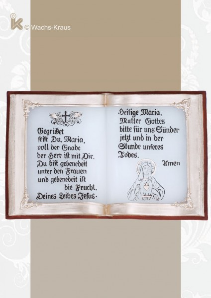 Buch aus Wachs, Gegrüßet seist du Maria