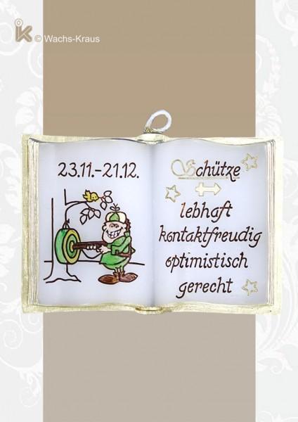 Wachsbuch Sternzeichen Schütze zum Sammeln oder Schenken.
