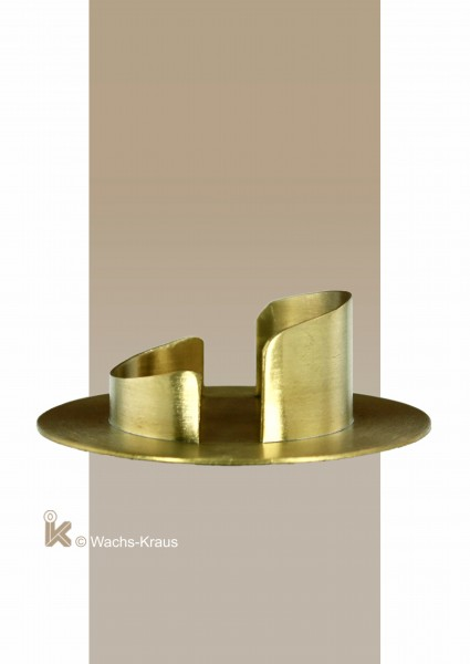 Kerzenhalter Messing für Ø 60 mm Kerzen