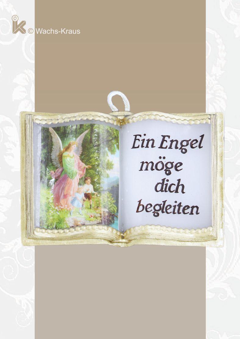 Wachsbuch Schutzengel mit nostalgischem Bildchen